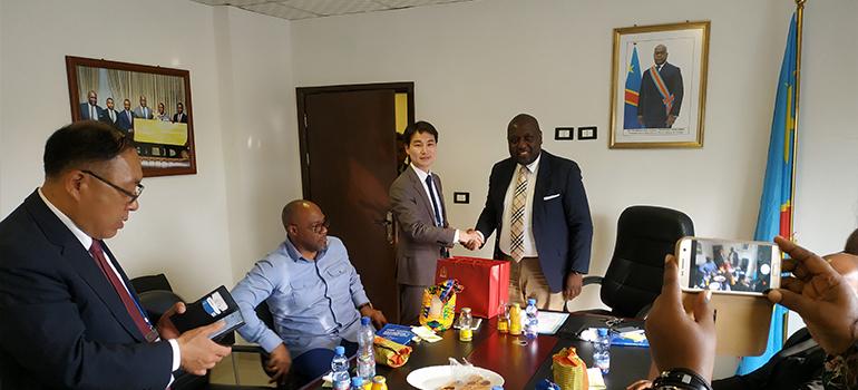 Une délégation du groupe coréen KCD reçue par le Conseiller Spécial en charge du Numérique